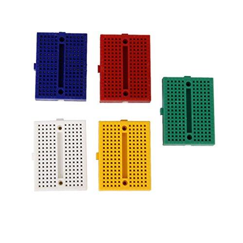 5pcs 5 colors Universal 170 Tie-point Solderless PCB Breadboard
