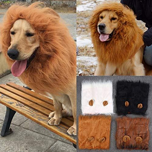 Süße Löwenkostüm für Hund und Katze, Löwenmähne mit Ohren für Halloween, Partys, Feste-Größe Passend für Haustiere mit Einem Halsumfang von 30 bis 60 cm
