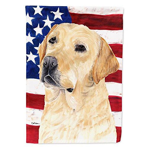 Caroline's Treasures SC9018GF USA American Flag with Labrador Flag Garden Size, Small, Multicolor