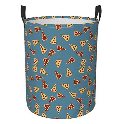 dpcm Blue Pizza Yellow Food Cesto de ropa con asas para contenedor de almacenamiento Organizador para el hogar Cocina Baño