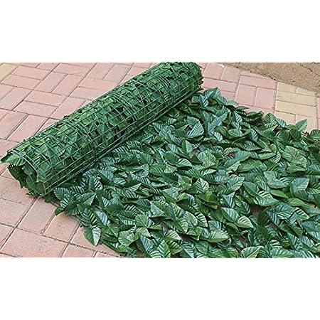【LR.store】 グリーンフェンス 緑のカーテン 目隠し リーフフェンス フェイクグリーン リーフラティス ガーデンフェンス ハードネットタイプ 日よけ サンシェード (1m*3m, 2)