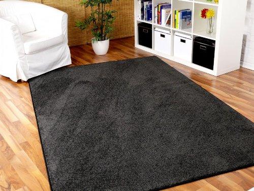 Snapstyle Hochflor Velours Teppich Luna Anthrazit in 24 Größen