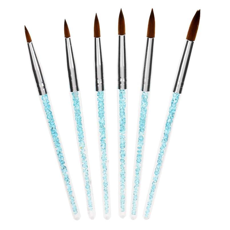 仕様トリプル許容Fenteer 6個 ネイルブラシ マニキュア ネイルアートペン 描画ペン