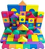 EWONDERWORLD 100 Piece Premium Quality Non-Toxic Foam Building Wonder Blocks – Building Toys, Foam Blocks for Kids & Toddlers, Children's Playtime Blocks