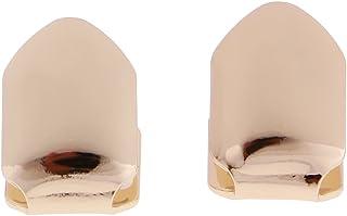F Fityle 1 Pair Hip-Hop Rapper Gold Single Mouth Cap Custom Teeth Grill Bottom