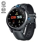Smartwatch, Reloj Inteligente Llamada LTE Dual Cámara 5MP + 5MP Pantalla de Alta Resolución Videollamada GPS Reproductor MP3, Pulsómetro Podómetro Pulsera Deportiva para Hombre y Mujer (Multilingue)