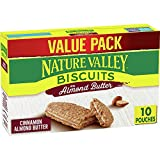 Nature Valley Biscuits, Almond Butter Breakfast Biscuits w/ Nut Filling, 13.5 oz, 10 ct (Pack of 6)