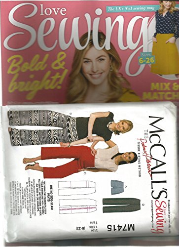 LOVE SEWING UK NO 1 SEWING MAGAZINE BOLD & BRIGHT ISSUE 48 2017 W/ FREE PATTERN