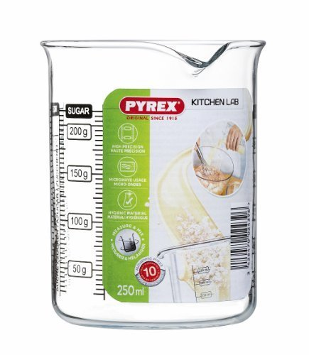 Pyrex 250 ml Kitchen Lab Measure and Mix Beaker by Pyrex