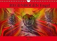 REGENBOGEN Engel (Wandkalender 2022 DIN A4 quer): Kunstvolle Engel in allen Farben des Regenbogens als Begleiter durch das NEUE JAHR (Monatskalender, 14 Seiten )
