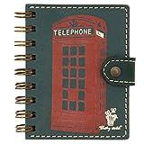 Listín telefónico de bolsillo, agenda telefónica pequeña, con anillas, papel de calidad,1000 números de teléfono - Trashy World