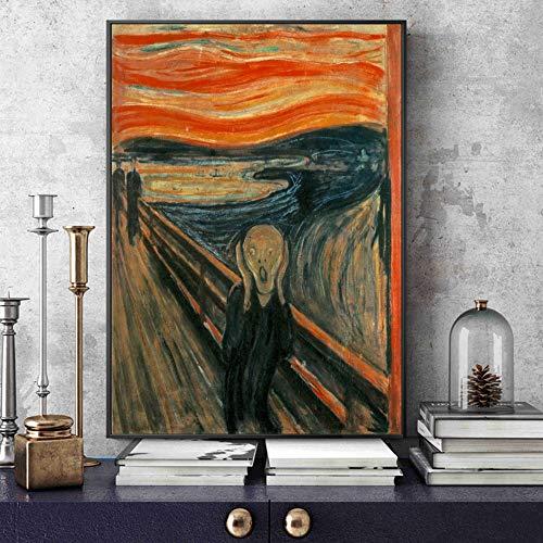 SADHAF klassieke abstracte replica canvas schreeuwende beroemde kunst schilderij aan de muur versierd Home Decor A4 60x80cm