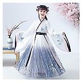 YUNGYE Disfraz de hada para niña, vestido de otoño, falda de estilo chino, para espectáculo, hada, original, Super hada, Hanfu (color: estilo A, tamaño: 130 cm)