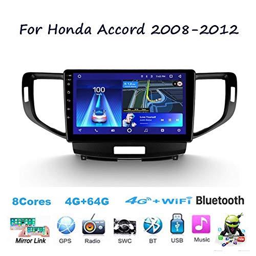 TypeBuilt Android 8.1 Autoradio Radio Navigationssystem Für Honda Accord 2008~2012 Gürtel DAB+ Digitalradio Bluetooth USB Mirrorlink Sygic GPS Verkehrsinfo Navigation,8cores,4G+64G