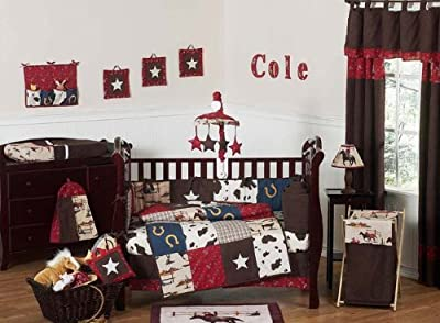 Wild West Western Horse Cowboy Baby Boy Bedding 9pc Crib Set from Sweet Jojo Designs
