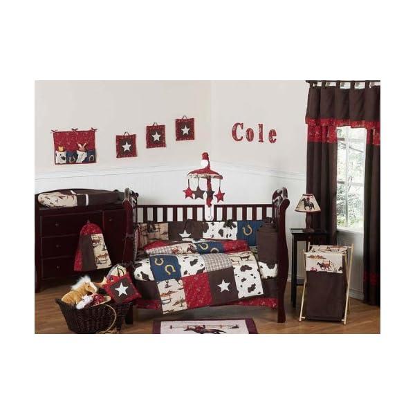 Sweet Jojo Designs Wild West Western Horse Cowboy Baby Boy Bedding 9pc Crib Set