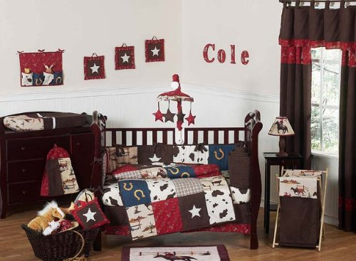 Sweet Jojo Designs 9-Piece Wild West Western Horse Cowboy Baby Boy Bedding Crib Set