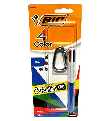 BIC 4colores Fashion mini bolígrafo con mosquetón Clip (azul)