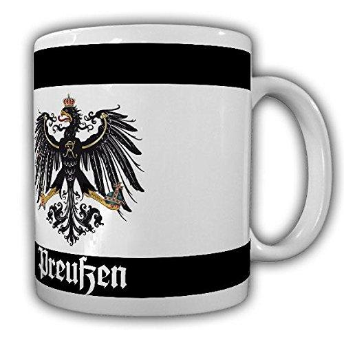 Preußen Fahne Preußisch Adler Abzeichen Deutschland Friedrich der Große Flagge Kaffee Becher Tasse #20082