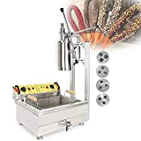 MNSSRN Máquina de fabricación de fritura en español Comercial, 3 moldes de Pozo 25l Freidora eléctrica de Acero Inoxidable friturando sartén Set Frying Pan Giogan Manufacturing Machine