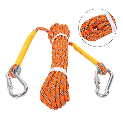 NiceDD Cuerda de escalada al aire libre 10M (32 pies) Cuerda de escalada estática, Cuerda de escape Equipo de escalada en hielo Cuerda de paracaídas de rescate contra incendios
