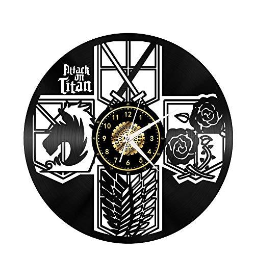 Titan Vinyl Record Clock Creative Home Decor Led Clock Estilo Antiguo Round Hollow Cartoon CD Record Reloj De Pared con Led