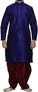 Royal Kurta Men's Designer Silk Blend Dhoti Kurta Set