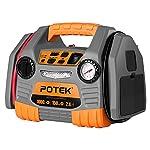 POTEK Car Jump Starter with 150 PSI Tire Inflator/Air compressor,1000 Peak/500 Instant Amps