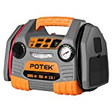POTEK Car Jump Starter with 150 PSI Tire Inflator/Air...