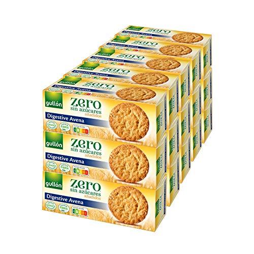 Gullón - Galletas Digestive avena, sin azúcar, Diet Nature, 6.150 g, Pack de 15
