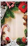 ABAKUHAUS Navidad Cortina para baño, Canela del bastón de Caramelo, Tela con Estampa Digital Apta...