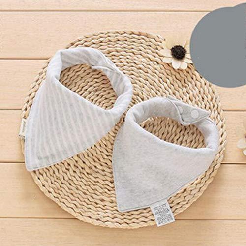 Weimilon Living Home Baby Triangle Serviette Casual Chic Bavoir Coton Salive Tissu Double Quatre Saisons 2Pcs Ensemble (Couleur Marron) (Color : Grau, Size : Size)