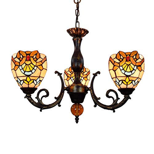 ZHANCHANG European Style Retro Kreative Lackierte farbige Glasur Lampe Bar Club Wohnzimmer Schlafzimmer Dreier Heads Pendelleuchte (Color : Multi-Colored)