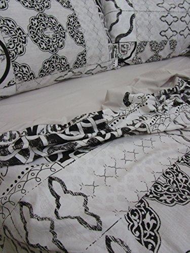 Pago Poco Komplett Bett Doppelbett aus Mikrofaser Jardin Twist.Bettlaken 240x 280cm.Spannbettlaken 180x 200+ 25cm.2Kissenbezüge 50x 80+ 13cm.