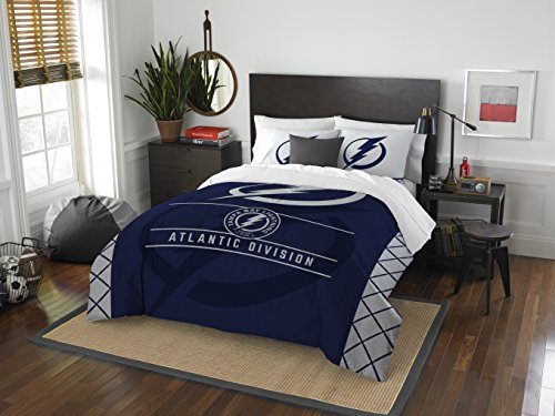 NHL Tampa Bay Lightning Twin Comforter and Sham Set, Twin