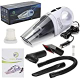 PowerStance Best Vacuum Cleaner for car Truck-High Power-12v-5500PA-Corded Portable Handheld-Wet/Dry use-HEPA Filter, Nozzle Accessory kit, 16ft Power Cord, Carry Bag-Energy efficient