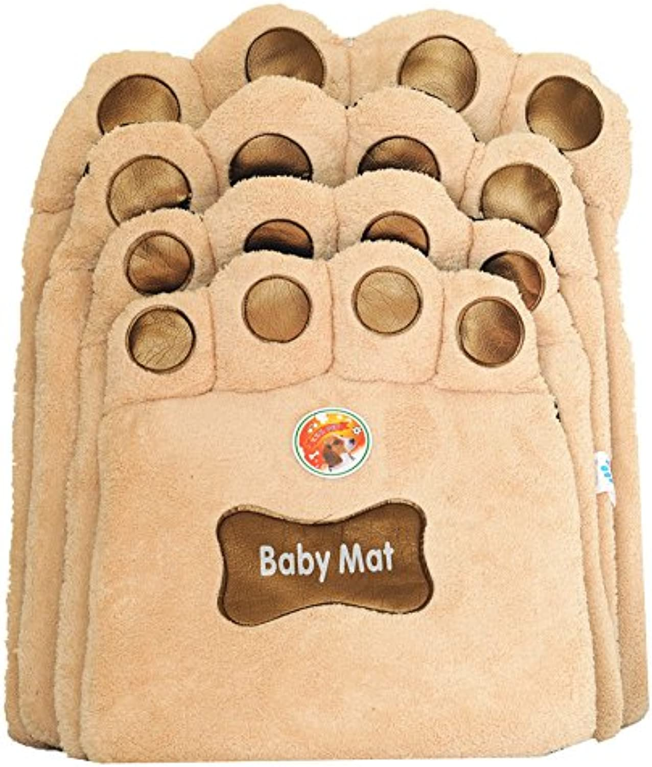 Beige Dog Care Cat Puppy Warm Crate Cage Kennel Bed House Soft Mat Size   M
