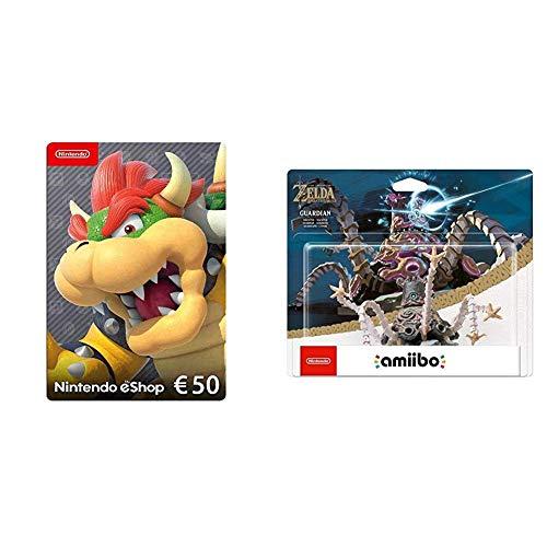 Nintendo eShop Card | 50 EUR Guthaben | Download Code & amiibo The Legend of Zelda Collection Wächter (Breath of the Wild)