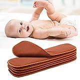 Windeleinlageneinsatz, weiche saugfähige 4-Lagen-Stoffwindeleinsätze, mittlere Größe zum Isolieren des Poop-Säuglings des Babys