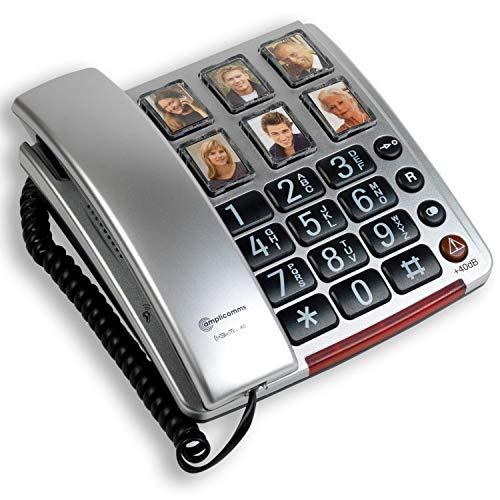 Amplicomms BigTel 40 PLUS - Big Button Phone for Elderly - Loud Phones for...