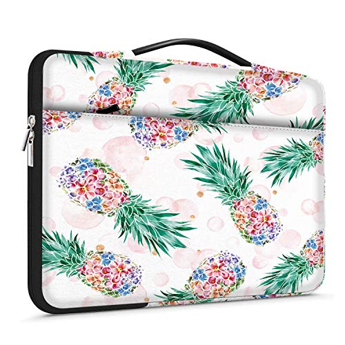 Lapac 13-13.3 inch Laptop Sleeves Pineapple Handle Bag Compatible with MacBook 13-13.3 inch, Notebook Computer, Chromebook Case, 360 Protective Briefcase & Waterproof Crazy Fruit Bag with Pocket