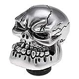 Argent Tête De Crâne Universel Voiture Camion Sculpté Manuel Pommeau Bâton Levier Shifter M8 M10 M12