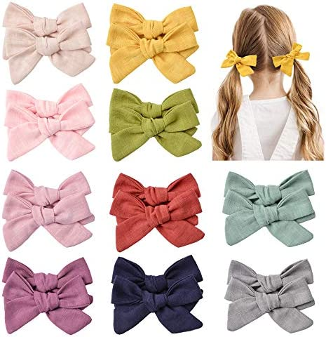 10 Pairs Baby Girls Hair Clips Hair Bows Barrettes Handmade Hair Accessories for Babies Toddler product image