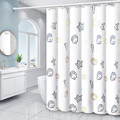 XEUYUTR Duschvorhang, wasserdichter Stoff, mit 12 Haken, dekorative Gardinen für Badezimmer, Hotel-Qualität (183 x 183 cm, weiß)
