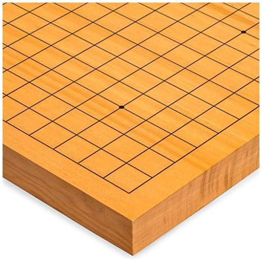 Yellow Mountain Imports Go Japanese Game Board (Goban), Shin Kaya Wood with Double Convex Glass Stones Jangstone…