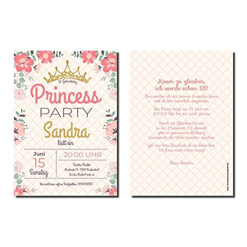 Uitnodigingskaart 18e verjaardag prinses (niet beschikbaar in het Nederlands)