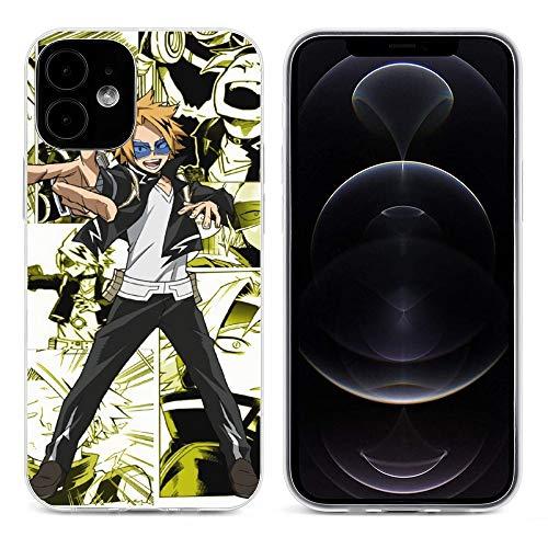 aholic Denki Kaminari Manga Collage My Hero Academia Transparent Soft Silicone Phone Case FOR iPhone 12 Pro MAX Mini Cover Shell(Wireless Charging) Transparent-style1 iPhone 12