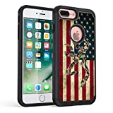 iPhone 7 Plus Case,iPhone 8 Plus Case,Rossy Camo American Flag Design Shock-Absorption Dual Layer Hybrid Armor Defender Protective Case Cover forApple iPhone 7 Plus 2016 / iPhone 8 Plus 2017