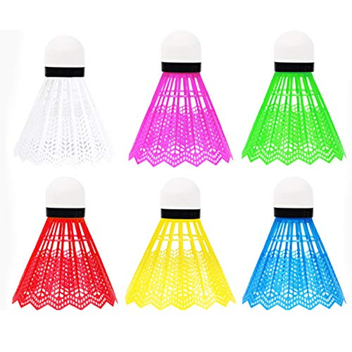 Esenlong 12 palline da badminton, in plastica, per uso interno, per allenamento e intrattenimento, sport, fitness, attività all'aperto