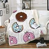 A Fleece Blanket Throw Adult Sherpa Blanket Funny Anime Print Travel Bedding Gift Beds Edredón 150 * 200Cm